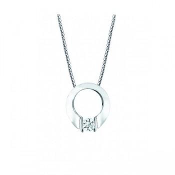 Gelin & Abaci 14K White Gold Diamond Pendant TN-001