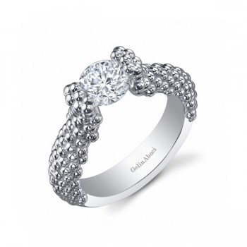 Gelin Abaci 14k White Gold Diamond Engagement Ring TR-247