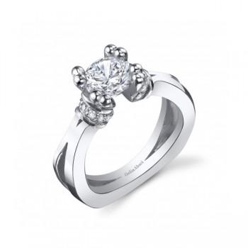 Gelin Abaci 14k White Gold Diamond Engagement Ring TR-251