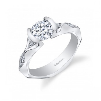 Gelin Abaci Tension Set Diamond Engagement Ring TR-259