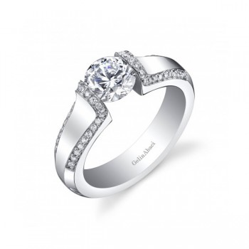 Gelin Abaci Tension Set Diamond Engagement Ring TR-276