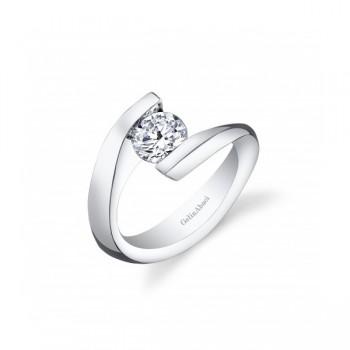 Gelin Abaci 14k White Gold Diamond Engagement Ring TR-273