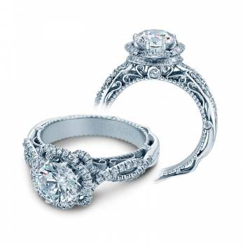 Verragio Halo Twist Engagement Ring