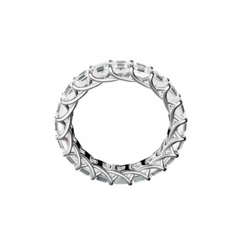 "Sasha Primak Asscher-Cut Diamond ""Trellis"" Eternity Band"