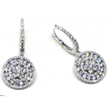 18 kt White Gold Earring