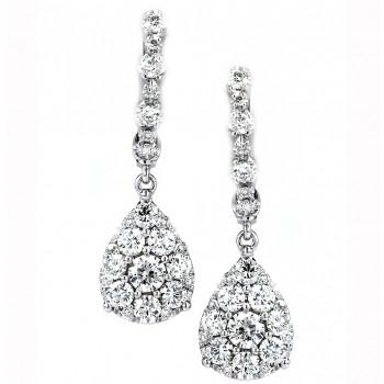 1.49 Carat Diamond Earrings