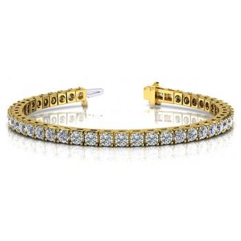 4.18 Carat Diamond Tennis Bracelet
