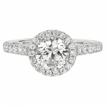 Martin Flyer FlyerFit Halo Engagement Ring CM04RDQ-C-6.5RD