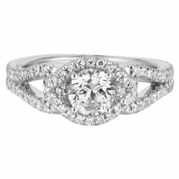 Mervis Collection Split Shank Engagement Ring DERM14RDQ-F-5.7RD