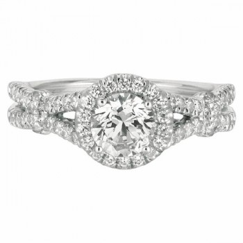Mervis Collection Split Shank Engagement Ring DERM15RDQ-F-5.7RD