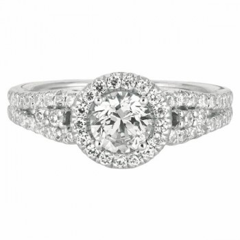 Mervis Collection Split Shank Engagement Ring DERM16RDQ-F-5.7RD