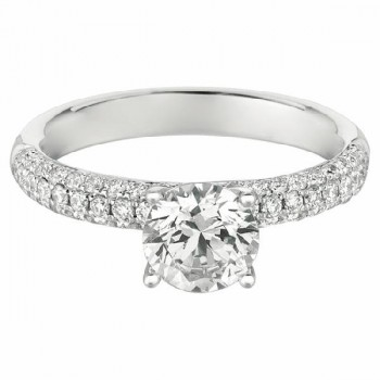 Mervis Collection Bombe Pave Engagement Ring DERM6SQ-F-6.5RD
