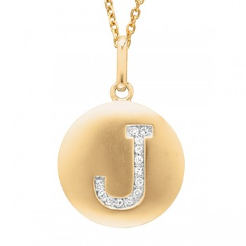 Disc Initial Letter J Necklace