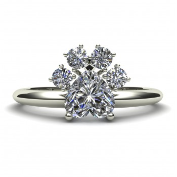 Dog Paw Engagement Ring