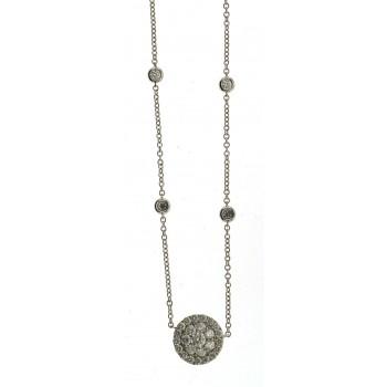 Fashion Diamond Halo Necklace