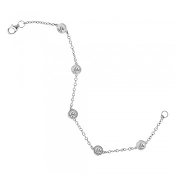 Five Stone Diamond Bracelet