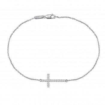 Thin Cross Bracelet