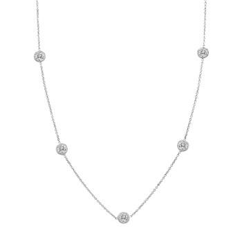 Five Stone Diamond Necklace