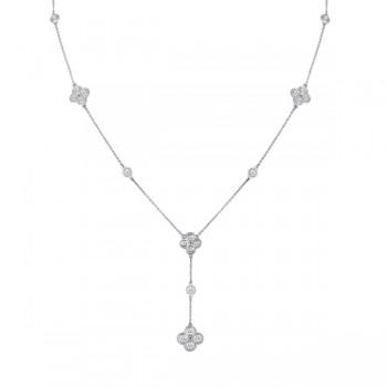 Cluster Drop Diamond Necklace