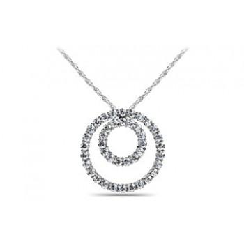 1.06 Carat White Gold Diamond Pendant