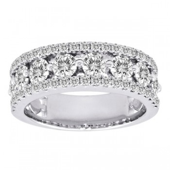 .75 Carat Pave Sided Band