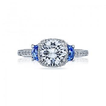 Tacori Dantela Collection Diamond and Sapphire Ring 2628RDSP