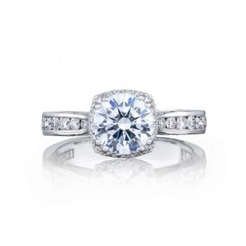 Tacori Dantela Collection Unique Round Diamond Engagement Ring 2646-3RDC7
