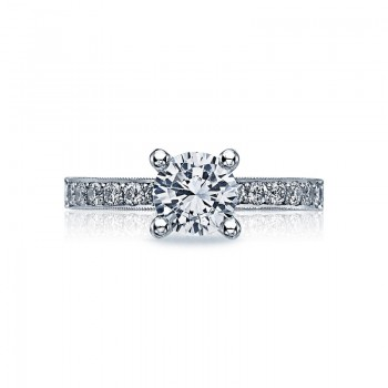 Tacori Sculpted Crescent Collection Hand Set Pavé Ring 41-25RD65