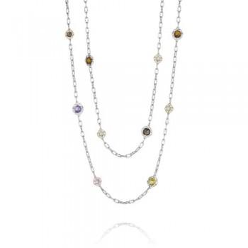 Tacori Color Medley Candy Drop Gem Double Chain Necklace