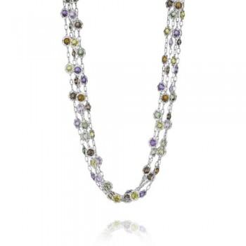 Tacori Color Medley Multi-Chain Candy Drop Gem Necklace