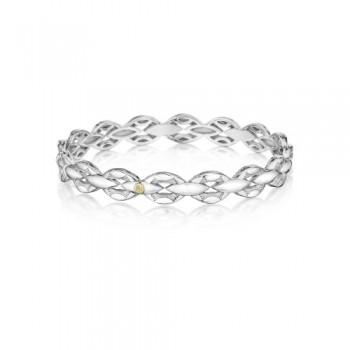 Tacori Bold Silver Links Bracelet featuring Diamonds