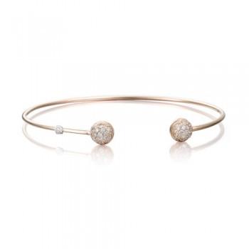 Tacori Pink Wire Dew Drop Cuff featuring Pave Diamonds