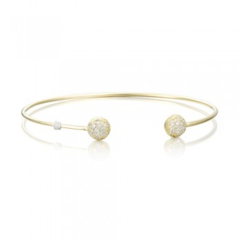 Tacori Gold Wire Dew Drop Cuff featuring Pave Diamonds