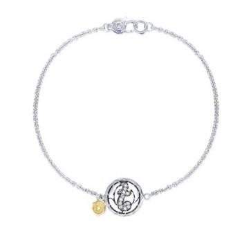 Tacori Love Letters Pavé Monogram Chain Bracelet