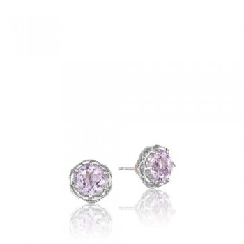 Tacori Blushing Rose Silver Crescent Stud