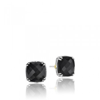 Tacori Classic Rock Bold Cushion Cut Gem Stud