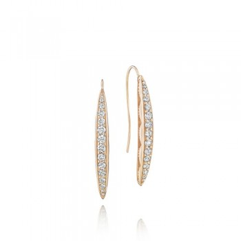 Tacori The Ivy Lane Pink Pave Marquise Drop Earring