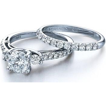 Verragio Detailed Round Diamond Engagement Ring