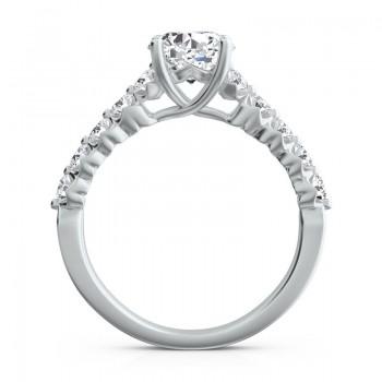 "Sasha Primak Eleven-Stone ""Royal Prong"" Diamond Engagement Ring"