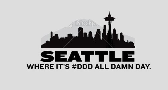 Seattle Gray Tee Shirt