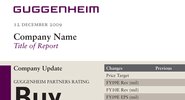 Guggenheim Report Template