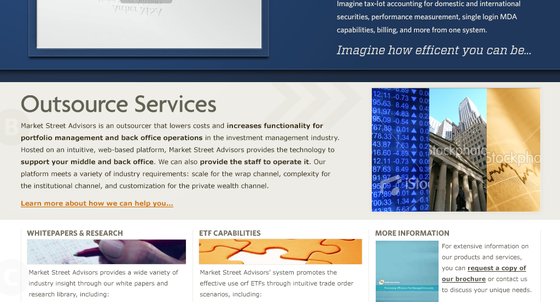 Market Street Advisors Website Home page