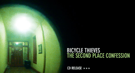 Bicycle Thieves CD Release Postcard