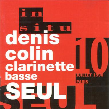 Denis Colin - Clarinette Basse seul
