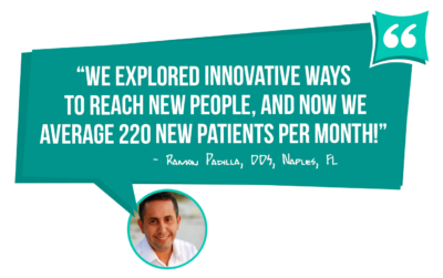 Ramon Padilla DDS now averages 220 new patients per month - learn how you can too with MGE Management Experts!