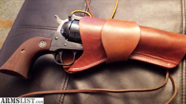 1979 ruger blackhawk 357 with leather holster and 100 rounds $475 firm