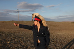 Menlibayeva  almagul  steppen police  2010  photo the artist