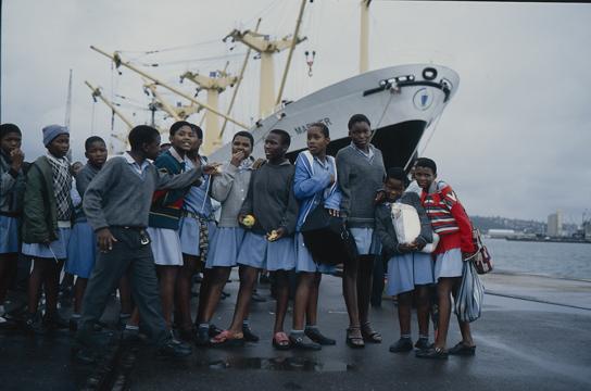 Visiting school children, durham, south africa