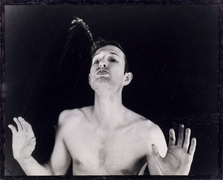 Bruce nauman self portrait as fountain 1966
