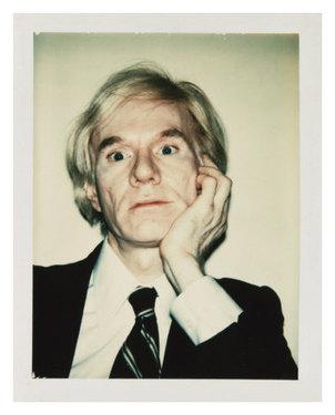 Andy warhol self portrait c 1977 chin on hand